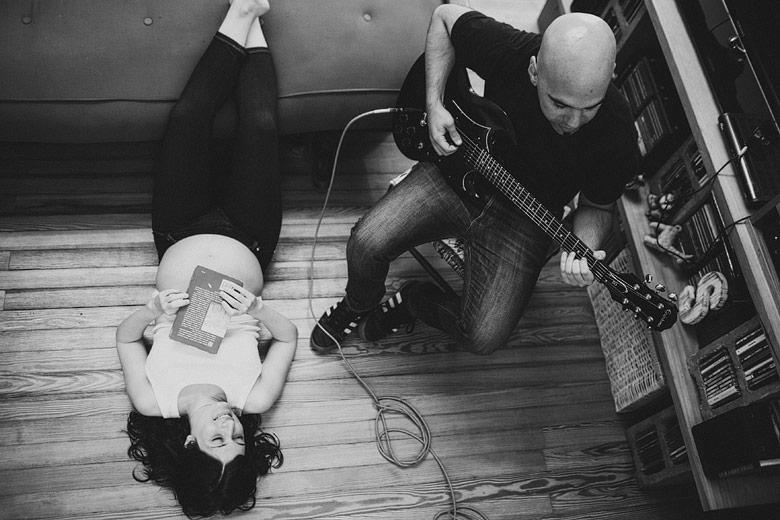 Sesion de embarazo rockera