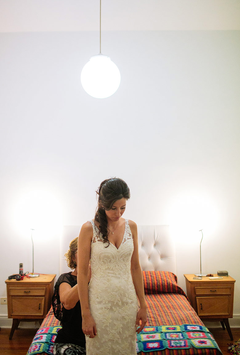 Diseño del vestido de novia por Ines Duggan