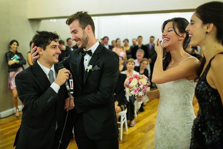 Fun wedding photographer in South America