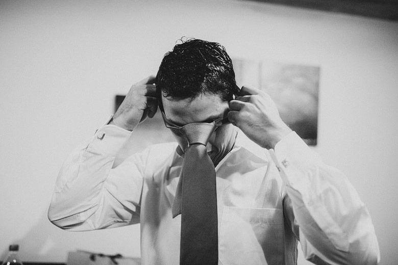 Fotos de la Preparacion del novio antes del casamiento