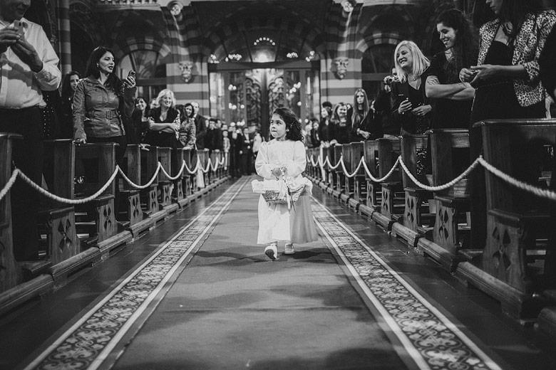 Fotografia tierna de casamiento