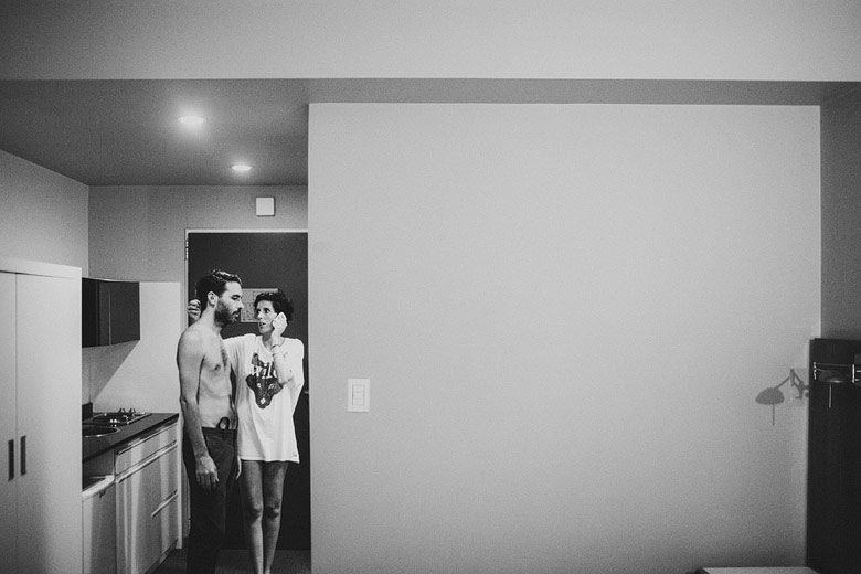 Backstage de la previa de los novios antes del casamiento
