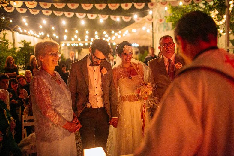Fotos profesionales de casamiento sin flash