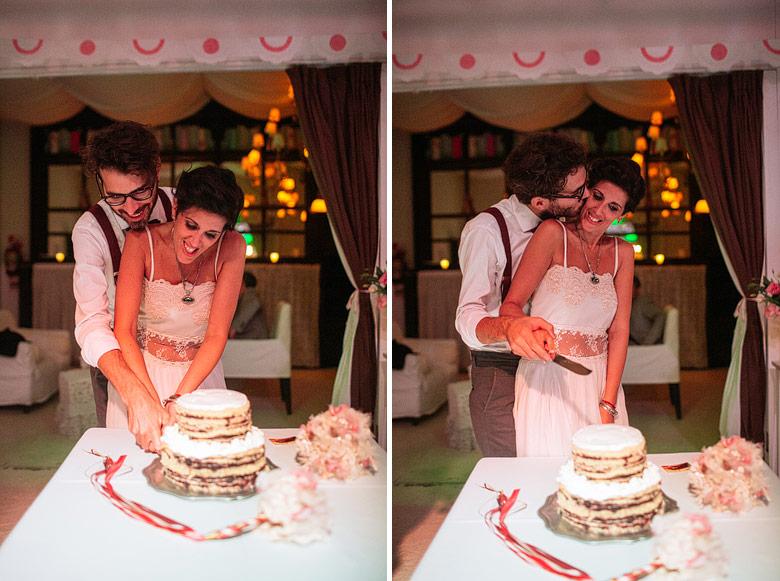 Fotos de corte de torta en casamiento