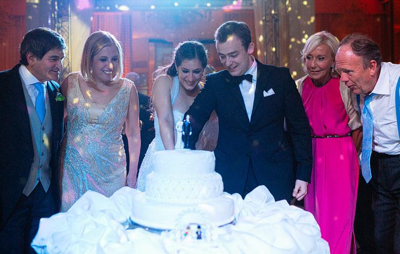 Fotos de corte de torta de boda