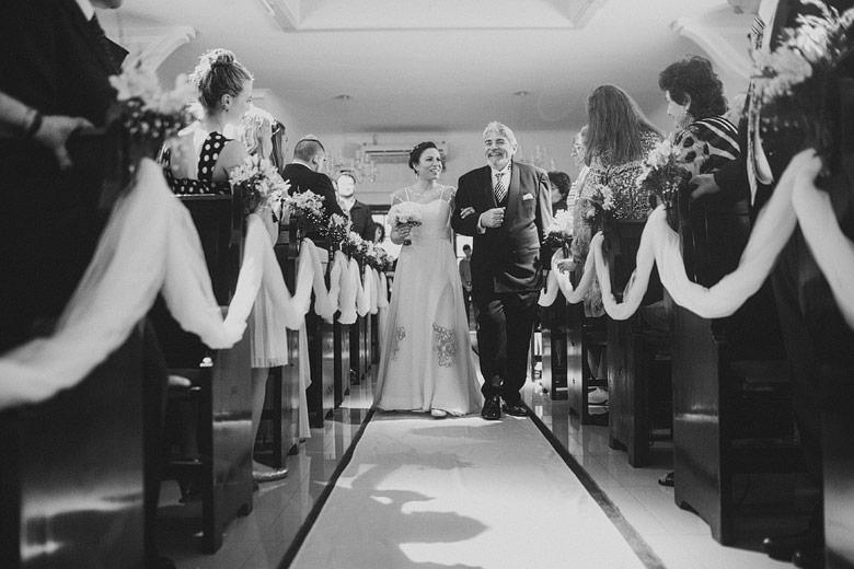Entrada de la novia en templo de la Comunidad Or Israel