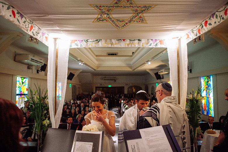 Ceremonia judia de casmaiento Comunidad Or Israel