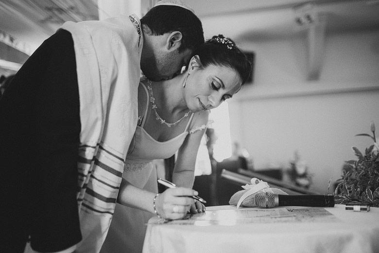Foto emocionante de casamiento