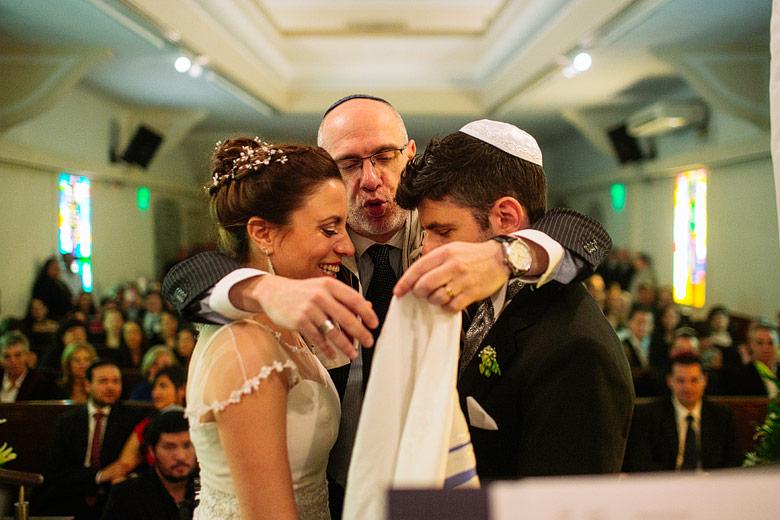 Casamiento en Comunidad Or Israel por el Rabino Diego Vovchuk