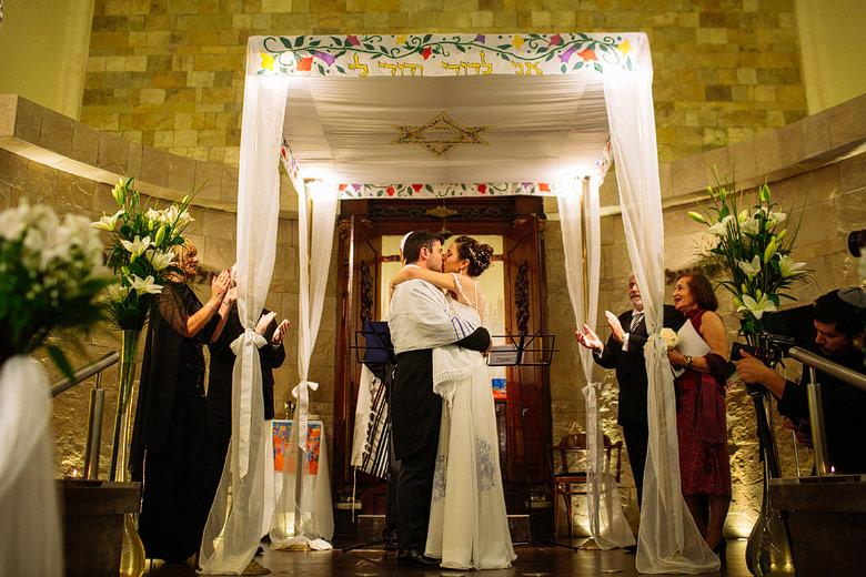 Ceremonia judia en templo