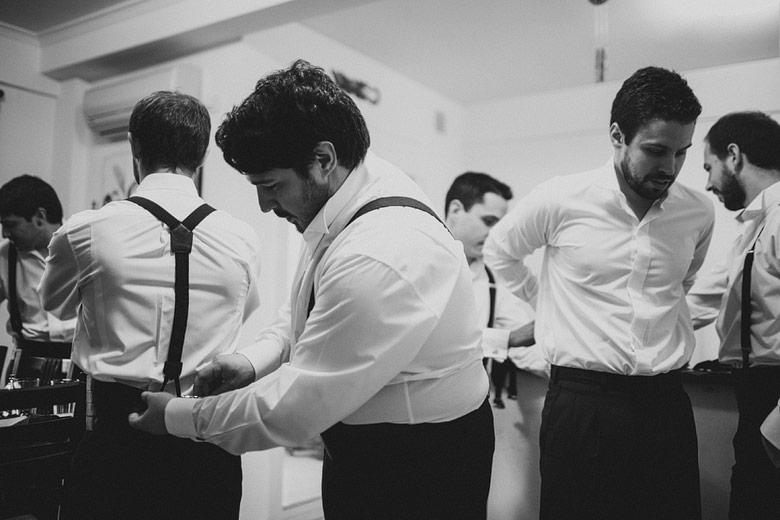fotos backstage novio previo a la boda