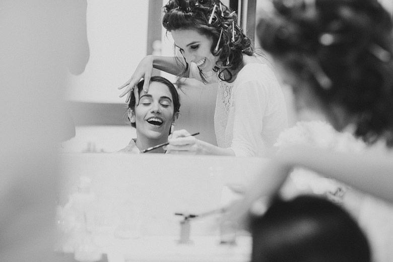Camila Spreafico Studio maquillando a novia para casamiento
