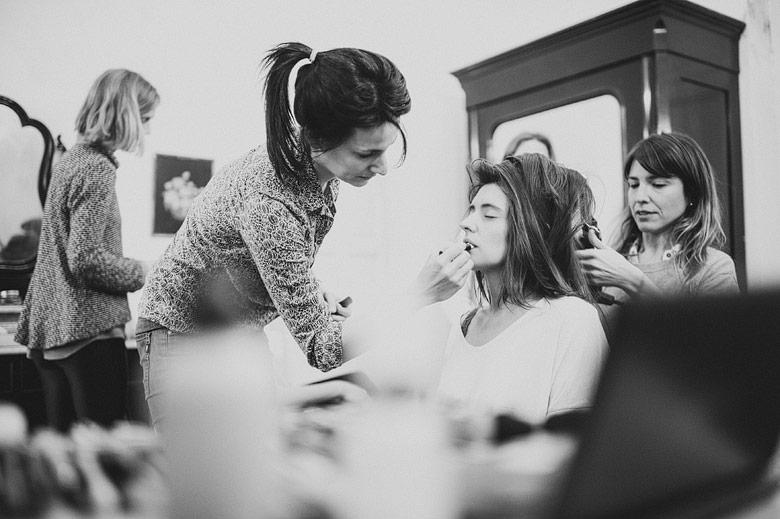 De La Vega Makeup maquillando a la novia para el casamiento