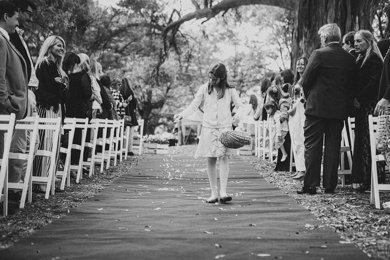 Ceremonia diurna de casamiento en Estancia Carabassa