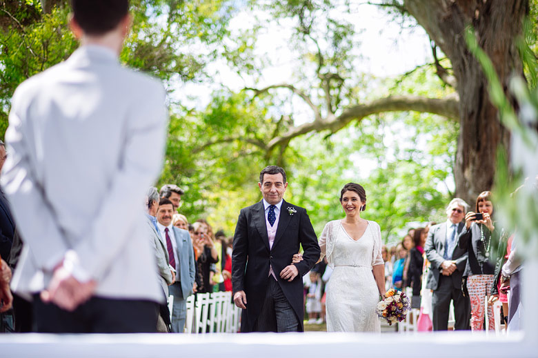Day light wedding ceremony at Estancia Carabassa Argentina