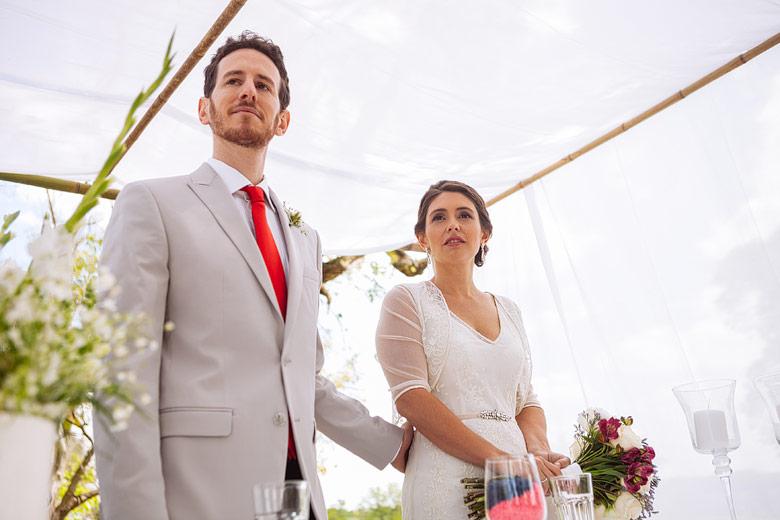 Casamiento al atardecer en Estancia Carabassa