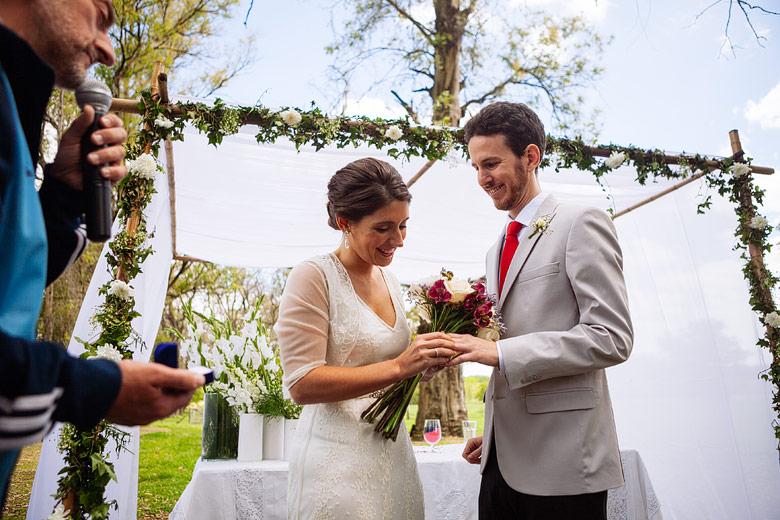 Ceremonia laica de casamiento Estancia Carabassa