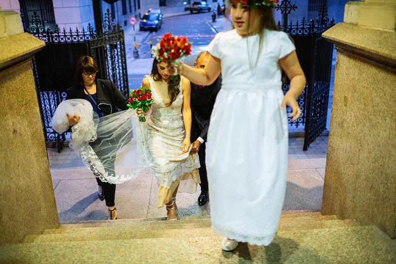Entrada de la novia iglesia