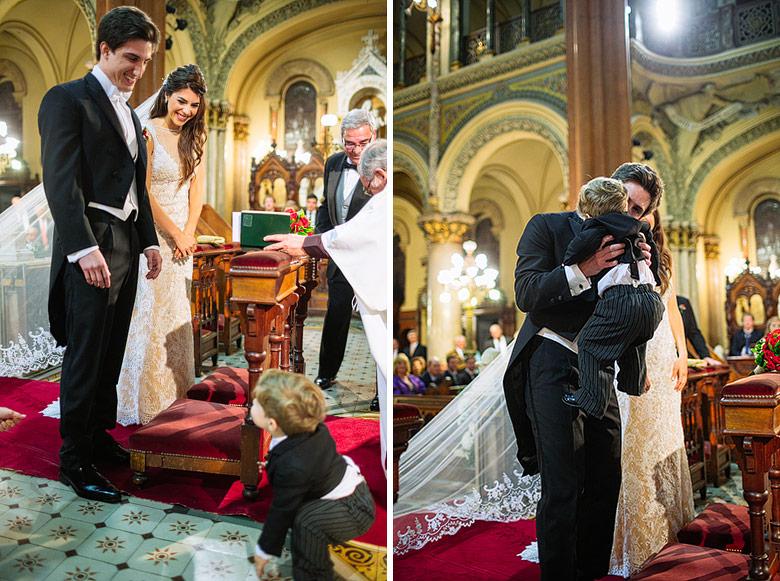 Casamiento por iglesia con hijos