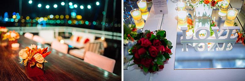 Ambientacion casamiento en el Yacht Club Puerto Madero YCPM