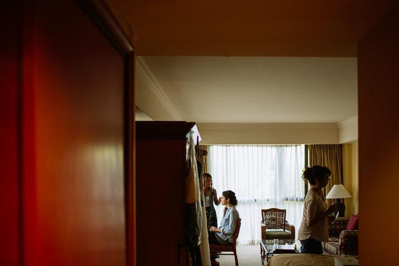 Getting ready de la novia en el Hotel Sheraton Pilar