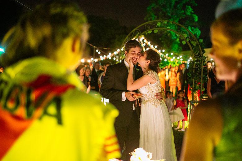 Fotos de casamiento nocturno en Estancia La Linda