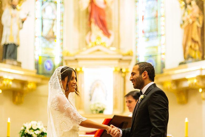 Ceremonia de casamiento en Iglesia San Francisco Javier