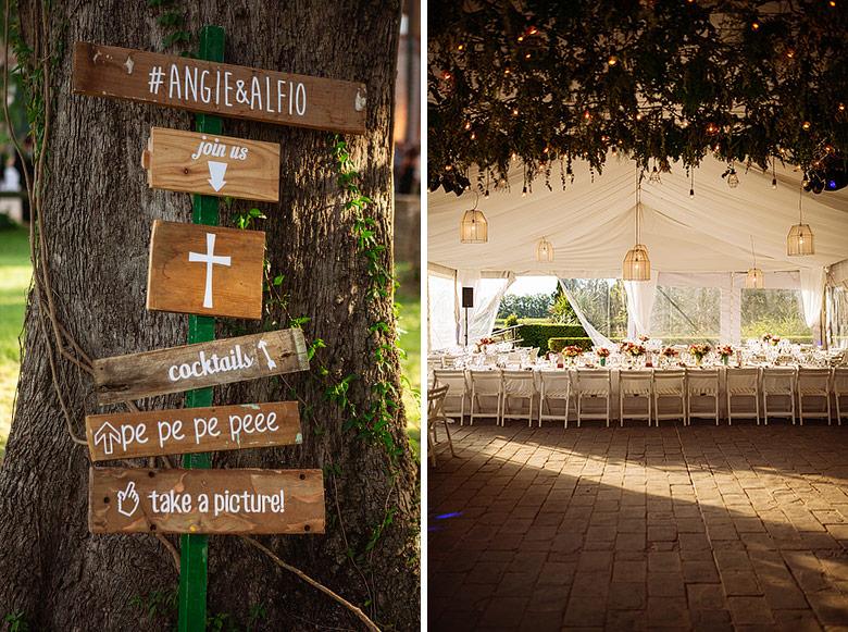 fotos ambientación de casamiento en estancia santa elena por Olivia D