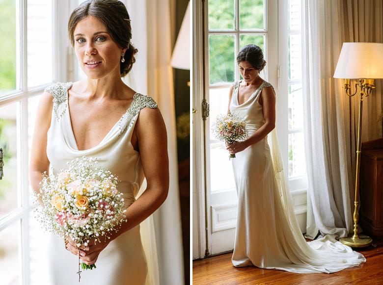 fotos de novia en el hotel Villa Julia de Tigre