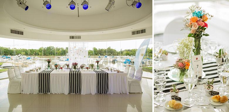 ambientación de casamiento de dia en Marinas Golf Tigre