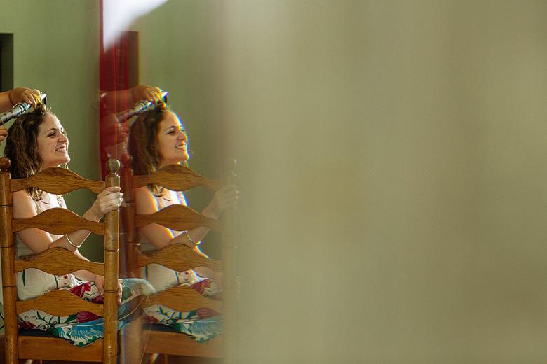 fotos del backstage de la novia previo al casamiento