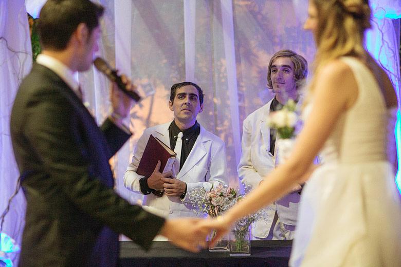 ceremonia comica de casamiento