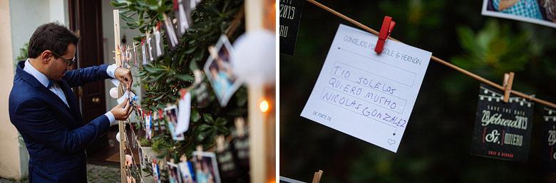 ideas para dejar mensajes a los novios en casamiento