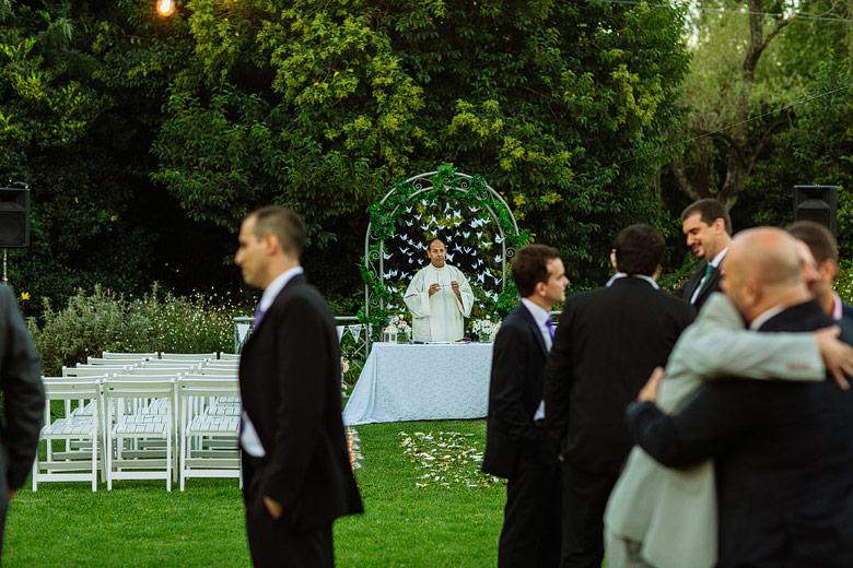 ceremonia de casamiento de dia en estancia la linda