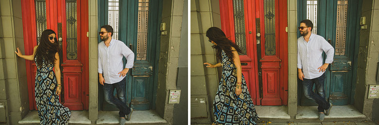 engagement photo shooting in the streets of buenos aires