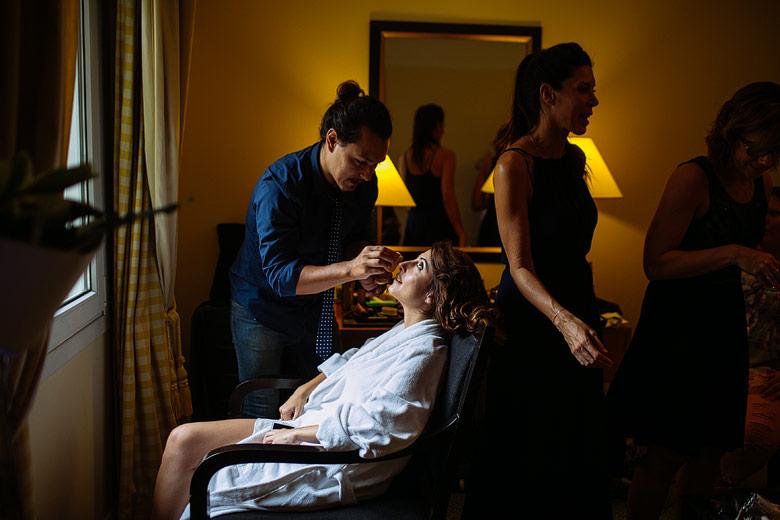 fotos del backstage de la novia en el Hotel Sofitel Arroyo
