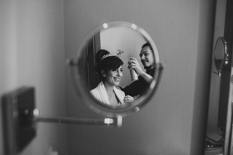 fotos del getting ready de la novia en hotel sofitel arroyo