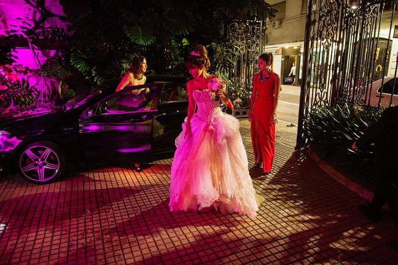 llegada de la novia al Palacio Bencich