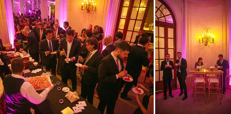 recepcion cocktail de casamiento en el palacio bencich