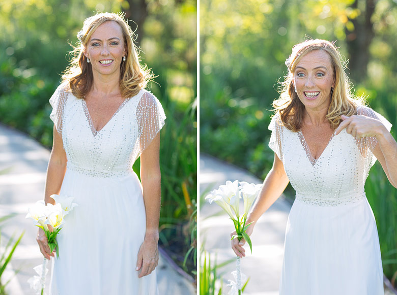 vestido de novia por Guevara Ocampo y make up por Marina Lanusse