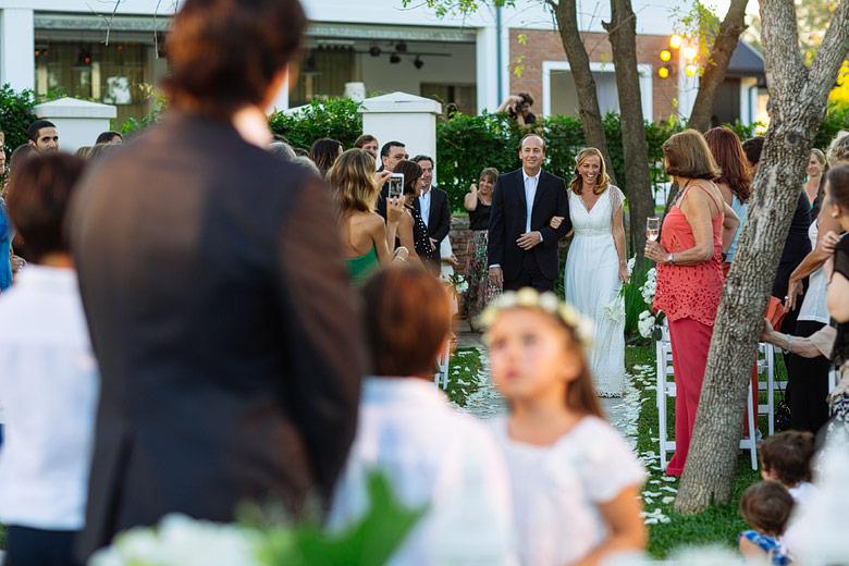 ceremonia de casamiento de dia en astilleros milberg