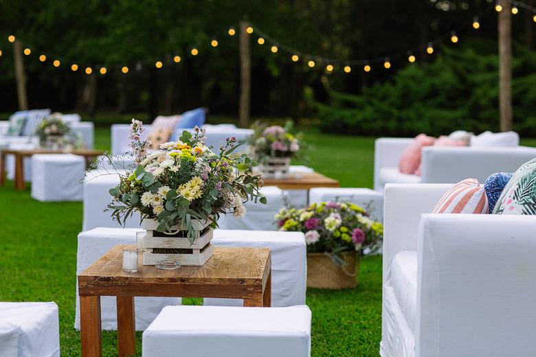 fotos de ambientacion de casamiento en Rincon de pilar por REA Ambientaciones