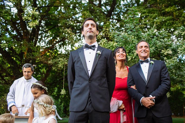 fotos del novio esperando a la novia en rincon de pilar