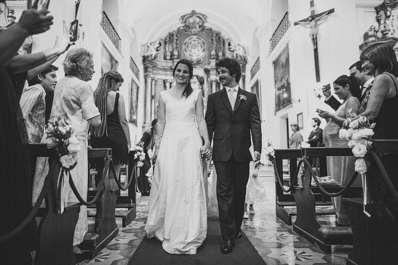 Fotos de casamiento en la Parroquia San Ignacio de Loyola
